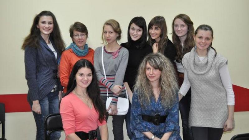 Встреча учеников РозУмки с американкой